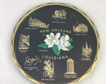 Vintage New Orleans Louisiana Souvenir Tray
