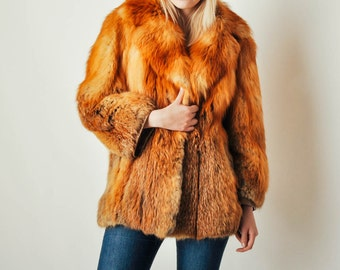 Vintage Red Fox Fur Coat