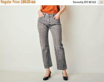 ON SALE Vintage Gray 501 Levis Jeans (30x29)