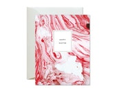 HAPPY EASTER Magenta Pink Marble Marble Greeting Card