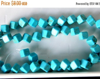 75% OFF SPRING CLEARANCE Magnesite Square Dice,9x9mm gemstone Beads, 15 inch Strand