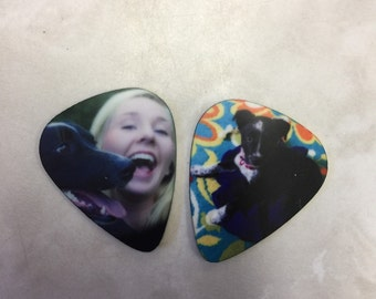 Photo Guitar Pick, Custom Guitar Pick, Double Sided Photo with Text, Unique Gift Idea, Guitarist Keepsake, Custom Printing