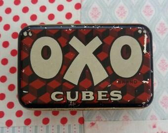 Vintage Retro kitchenalia OXO stock cubes Tin 1960s