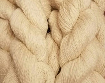 Creamy Shetland Romney Lamb's Wool Direct from the Farm Yarn Ready to knit, crochet, dye