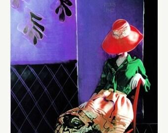 SALE-35% OFF, Portrait,  Fine Art Print, Giclee Archival Print, Photomontage, Collage, Painted Photographs, Woman Portrait,