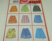 Butterick Nine Sew Fast And Easy Misses' Skort Pattern 4945 Size 6, 8, 10