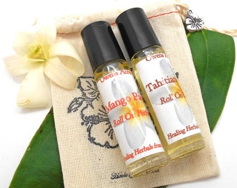 Roll On Perfumes. Set of Two - Pick Any 2 - 18 Scents, Natural Perfumes, 1/3 Ounce, Party Favors, Thank You Gifts, Tropical Scent, Perfume
