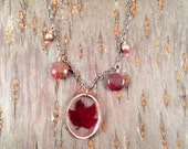 Red maple adorned necklace