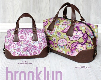 SALE Brooklyn Handbag & Traveler Bag PATTERN by Swoon Sewing Patterns Tote