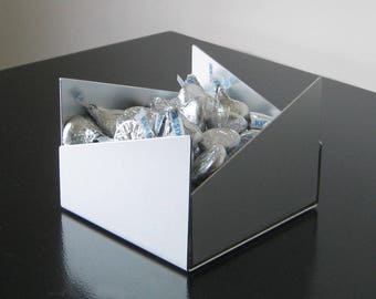 """Asymmetrical 4"""" Square Metal Container"""