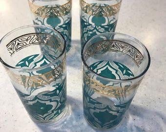 Mid Century Modern Vintage Glasses Barware Drinkware set of Four