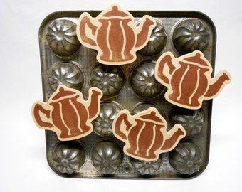 Teapot Magnets Copper Handmade Kitchen Decor
