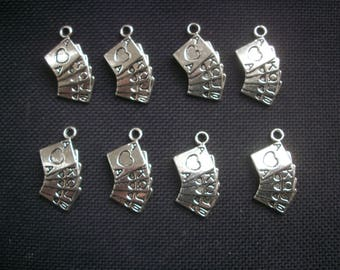 8 Playing Card Charms