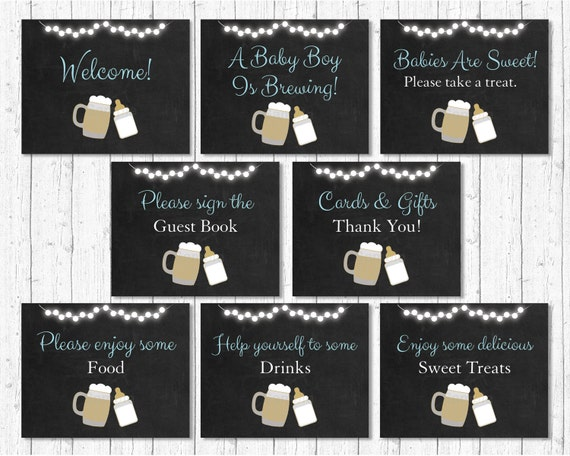 baby is brewing baby shower party signs    baby is brewing