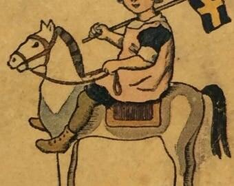 Children's Reading Primer Swedish Illustrated Book Stockholm Sweden 1919