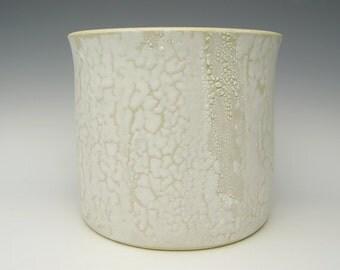 Contemporary Succulent Planter Ceramic Cactus planter pot Indoor plant pot Herb planter pot White Textural glaze  8 x 7 SCP27