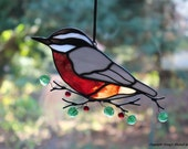 Red Breasted Nuthatch Suncatcher
