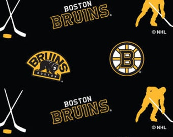 Bruins No-Sew Fleece  Blanket