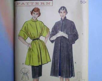 Vintage 50s Full or 3/4 Length Coat Uncut Pattern 30