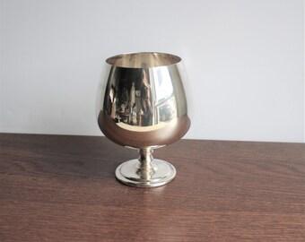 Vintage silver plated goblet, vase