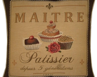 Confectionary Maitre Patissier Tapestry Cushion Sham