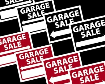 Printable Gargage Sale Signs-INSTANT DOWNLOAD