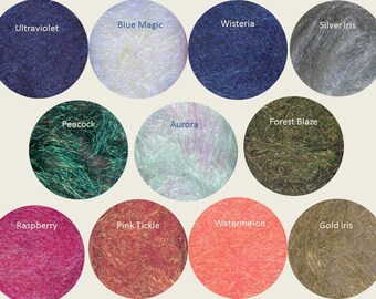 Crimped Cut Angelina Crystalina: Add Sparkle to Your Spinning and other Crafts, 11 Colors to Choose From