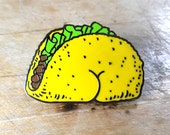 Taco BUTT Enamel Lapel Pin