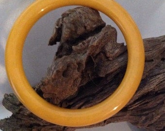 Bakelite Bangle Bracelet Butterscotch Vintage Plastic