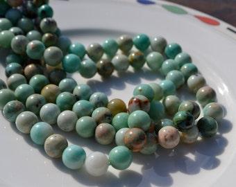 Amazonite 10mm Round Smooth Beads  Full Strand
