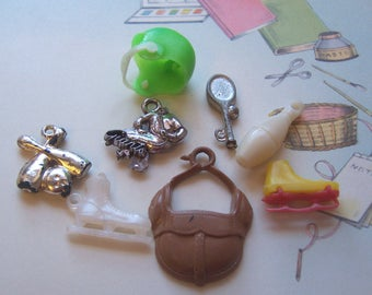tiny novelty sports and activities charms