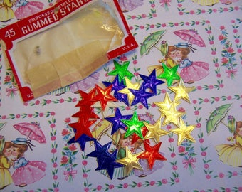 dennison foil gummed star stickers