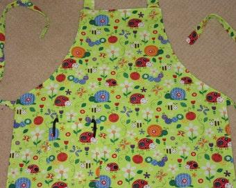 aprons for kids - aprons for boys - aprons for girls - bright bugs