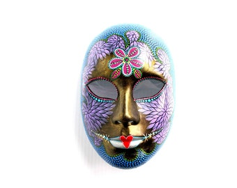 Mask: Hand painted plastic mask Masque