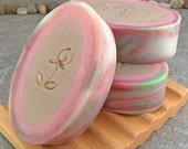 Passionfruit Rose - Handcrafted Artisan Coconut Milk Soap with Double Rim Design