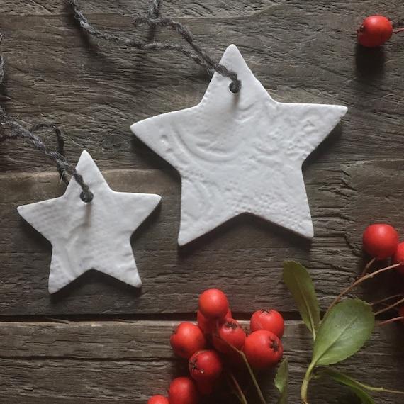 Medium Porcelain Christmas Tree Star
