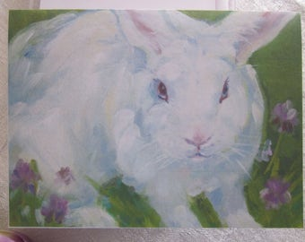 WHITE RABBIT Notecards from Original Watercolor Painting