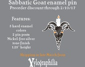 Sabbatic Goat enameled artist lapel pin PREORDER ships late March