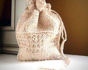 Silk rune bag / drawstring rune pouch / dice bag / crystal pouch / natural yarn