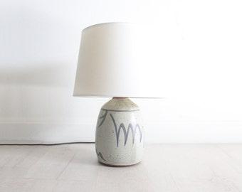 Signed Studio Pottery Lamp Base