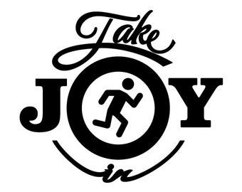 Take Joy In Jogging Decal
