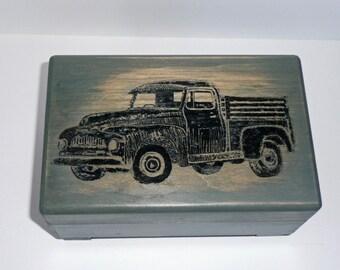 Rustic Truck Music Box