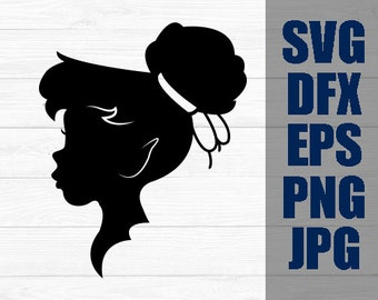 Tinker Bell SVG Disney Iron On Decal Cutting File / Clipart in Svg, Eps, Dxf, Png, and Jpeg for Cricut & Silhouette Princess Peter Pan