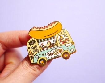 Hot Dog truck - Hard enamel pin brooch