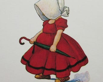 Sunbonnet Babies 6 Vintage Paper Postcards Unused Perfect For Scrapbooking Card Making  Group A