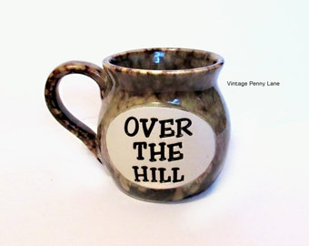 Over The Hill Mug, Ceramic  Pottery Coffee Cup