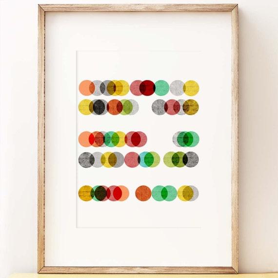 Abacus - abstract wall art print