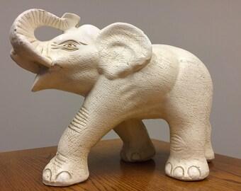 Vintage Mexican Elephant Statue