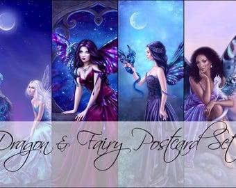 Dragons and Fairies Postcard Set
