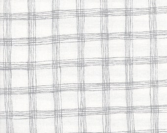 Kaufman Metallic Sparkle 15753 1 White Silver Grid By The Yard